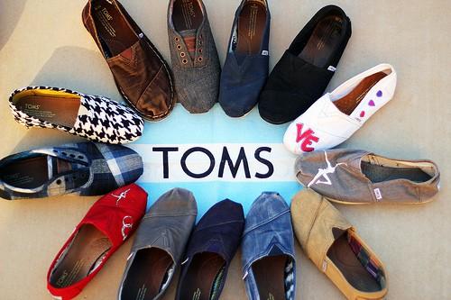 toms retailers online